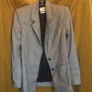 Vintage Yves Saint Laurent plaid blazer